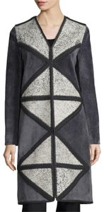 Tory Burch Suede Peacoat Winter Leather Crochet Coat