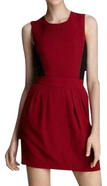 Preload https://img-static.tradesy.com/item/22498484/theory-black-red-garnet-darua-sleeveless-colorblock-short-workoffice-dress-size-8-m-0-4-650-650.jpg