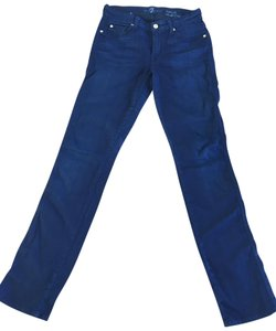7 For All Mankind Skinny Straight Leg Jeans-Dark Rinse