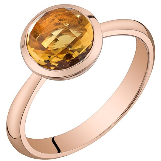 Other Citrine Solitare Dome RIng