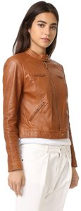 Joie Leather Soft Brown Jacket