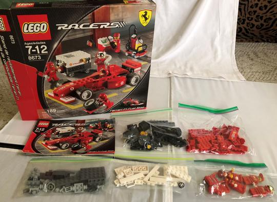 Lego Lego 8673 Ferrari Racers Legos complete With Instructions & box