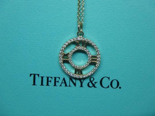 Tiffany & Co. Tiffany & Co 18k rose Gold Diamond Atlas Pendant Necklace 16