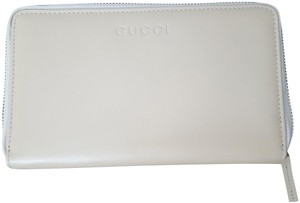 Gucci Gucci Women's Leather Zip Wallet Margaux Calf Cream