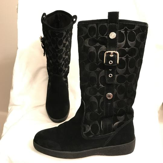 Preload https://item4.tradesy.com/images/coach-black-tullip-suede-leather-signature-logo-bootsbooties-size-us-75-regular-m-b-22498788-0-0.jpg?width=440&height=440
