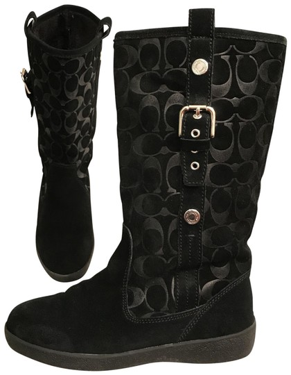 Preload https://img-static.tradesy.com/item/22498788/coach-black-tullip-suede-leather-signature-logo-bootsbooties-size-us-75-regular-m-b-0-1-540-540.jpg