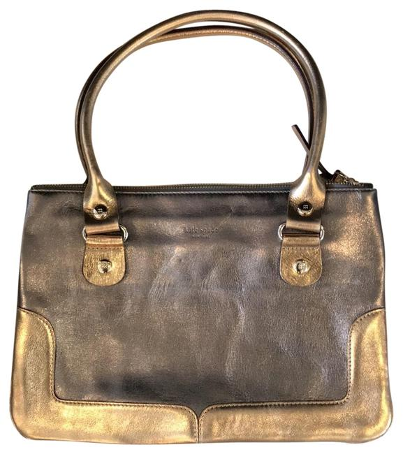 Item - Metallic Silver and Gold Leather Baguette
