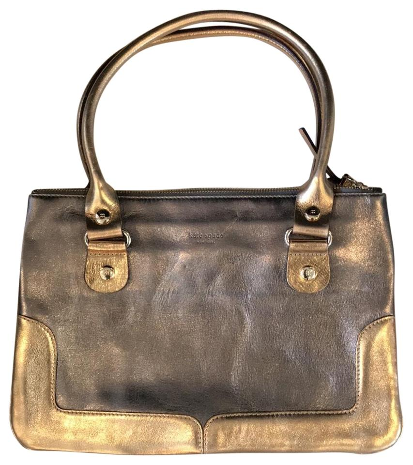 0922ba039cdc Kate Spade Metallic Silver and Gold Leather Baguette - Tradesy