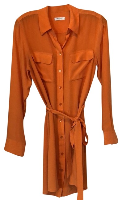 Preload https://item2.tradesy.com/images/equipment-orange-long-sleeve-blouse-tie-mid-length-workoffice-dress-size-8-m-22498831-0-1.jpg?width=400&height=650