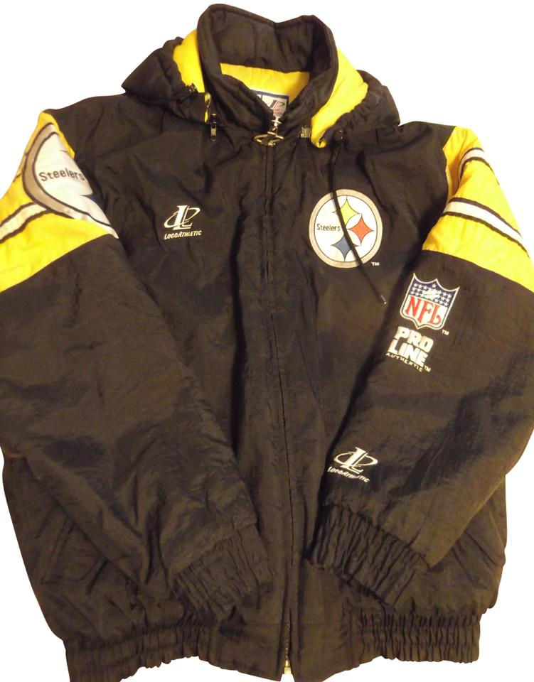 sports shoes 43c65 d2806 Black Yellow Pittsburgh Steelers Winter Men's Large Coat Size 14 (L) 58%  off retail