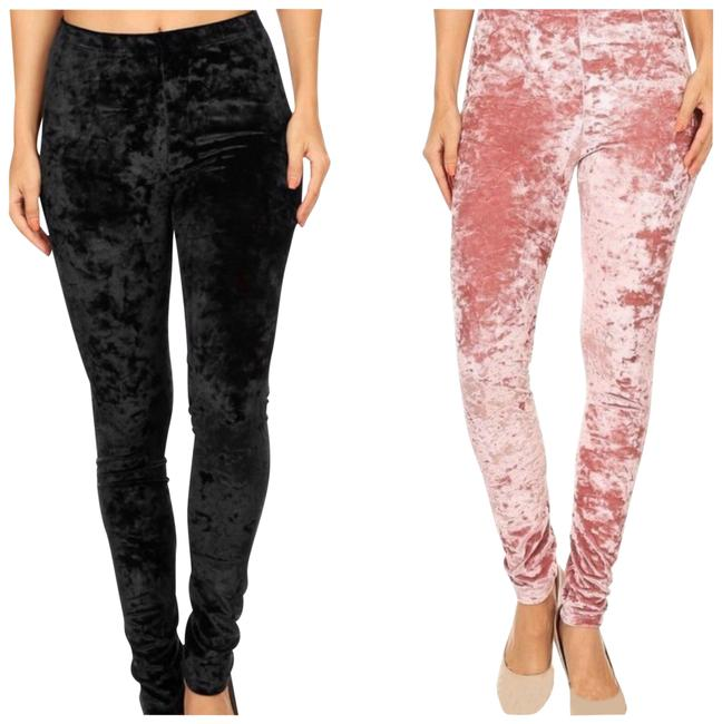 Preload https://img-static.tradesy.com/item/22498865/black-velvet-leggings-size-12-l-32-33-0-1-650-650.jpg