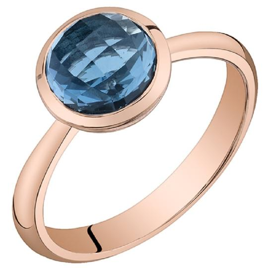 Other London Blue Topaz Solitare Dome RIng
