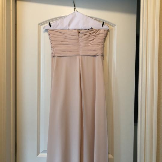 Monique Lhuillier Blush Polyester Convertible Gown Formal Bridesmaid/Mob Dress Size 4 (S)