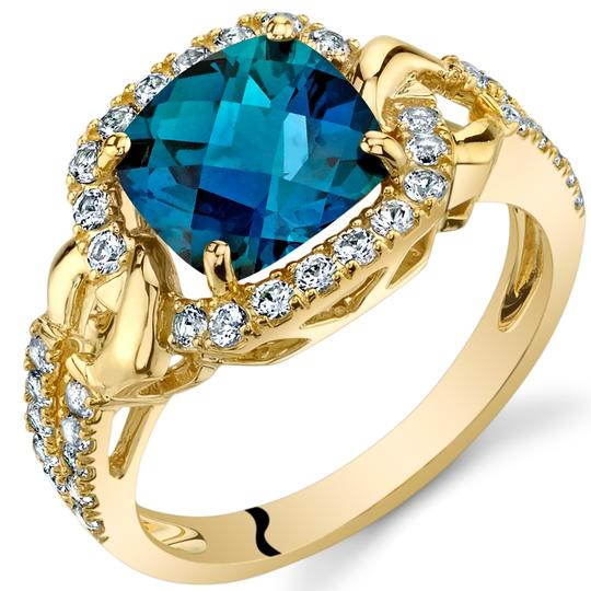 Other Alexandrite Cushion Halo Ring