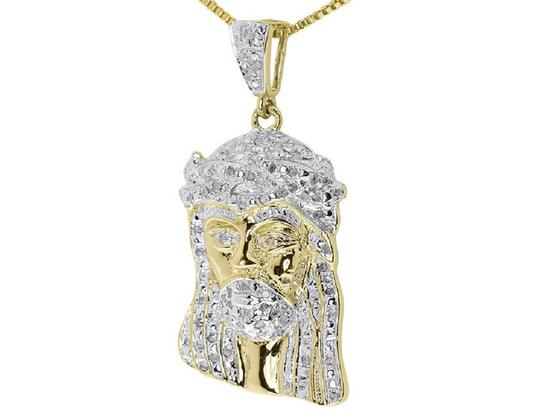 Jewelry Unlimited Yellow Gold Finish Mens Ladies Round Diamond 1