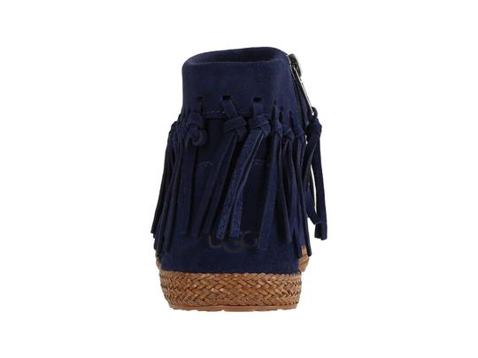 abbf7bbaa1a UGG Australia Blue Shenendoah Fringed Moccasin Ankle Boots/Booties Size US  7 Regular (M, B)