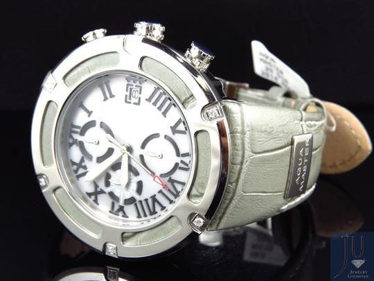 Aqua Master Mens Aqua Master El Russo W#346 Grey Steel Genuine Diamond Watch
