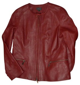 Artifact Brick Red Leather Jacket