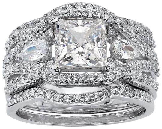 Other New 3pc Princess Cut Wedding Ring Set