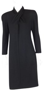 Genny Vintage Shoulder Pad Wool Dress