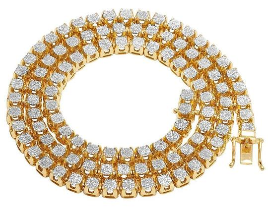 Preload https://item4.tradesy.com/images/jewelry-unlimited-yellow-gold-10k-diamond-6mm-cluster-tennis-chain-62-ct-24-necklace-22499178-0-0.jpg?width=440&height=440