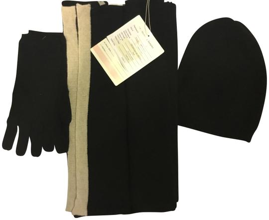 Preload https://item4.tradesy.com/images/ann-taylor-black-with-a-birch-beige-strip-cashmere-large-and-glove-set-scarfwrap-22499208-0-1.jpg?width=440&height=440