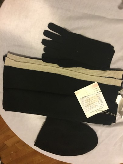 Ann Taylor 100% Cashmere Large Scarf Hat and Glove Set