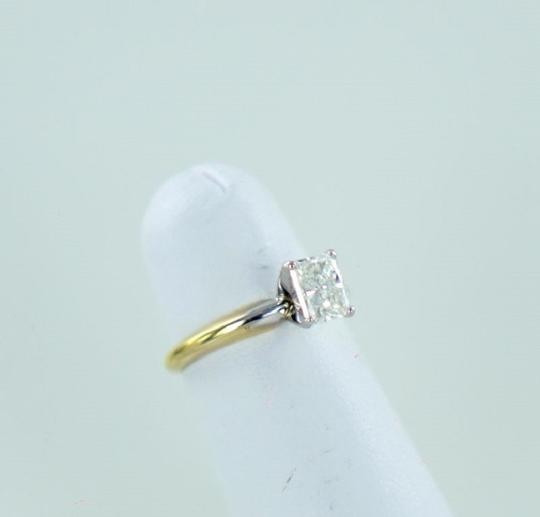 Yellow Gold 18kt 2tone Platinum Emerald Shaped Diamond 1.01ct Engagement Ring
