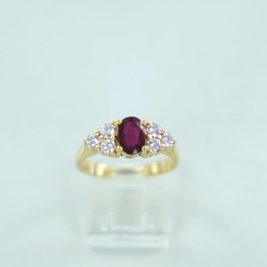 Red 18kt Yellow Gold Diamond Ruby .60atw Ring