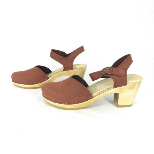 Sven Mary Jane Leather Brown Mules
