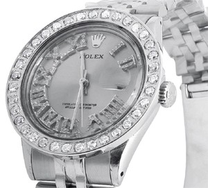 Rolex Mens Stainless Steel Datejust Jubilee 36MM Diamond Watch 3.5 Ct
