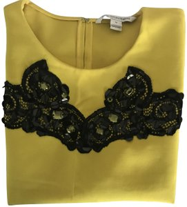 Diane von Furstenberg Sequins Dvf Top Yellow and Black