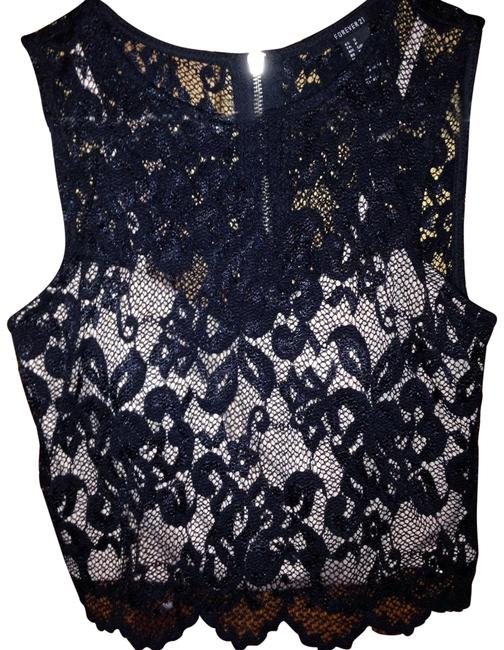 Preload https://item2.tradesy.com/images/forever-21-black-lace-crop-night-out-top-size-4-s-22499421-0-1.jpg?width=400&height=650