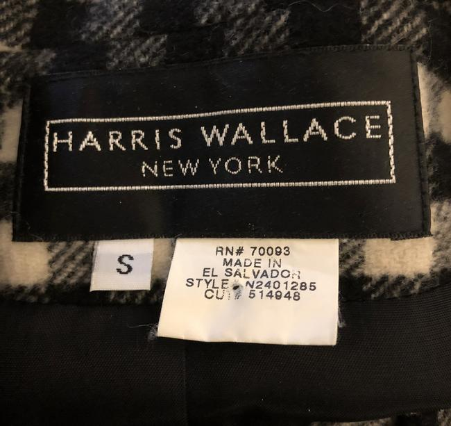 Harris Wallace Gingham Checkered Longsleeve Pockets Preppy Black, White Blazer