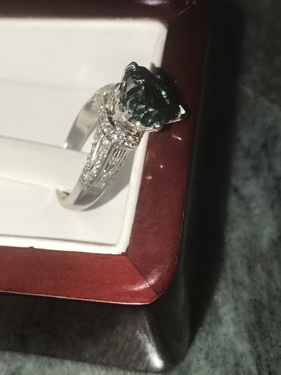 4.22cts Heart Shaped Blue diamond in 18k solid gold ring - Size 7 4.22cts Blue Diamond Ring in 18k White Gold - Size 7