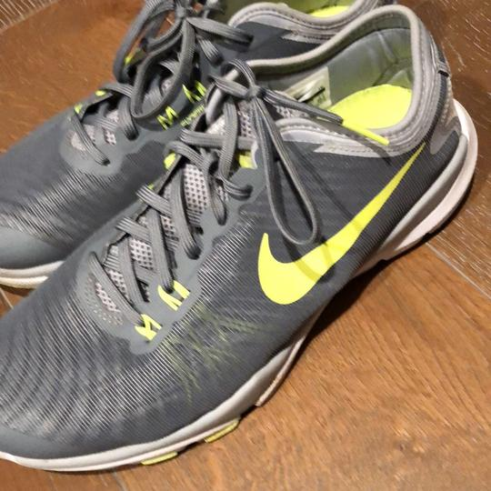 Nike gray yellow white neon green Athletic
