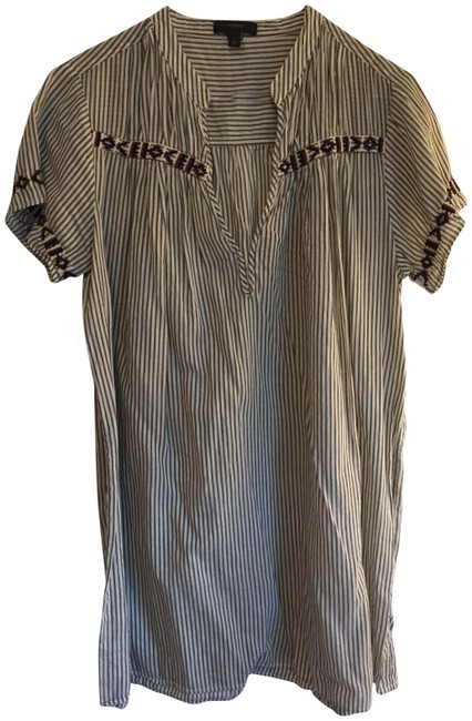 Item - Gray and White Stripes Beach Cover-up/Sarong Size 8 (M)