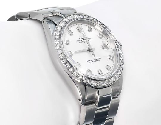 Rolex Mens Datejust Oyster Stainless Steel Diamond Watch With 2.15 Ct