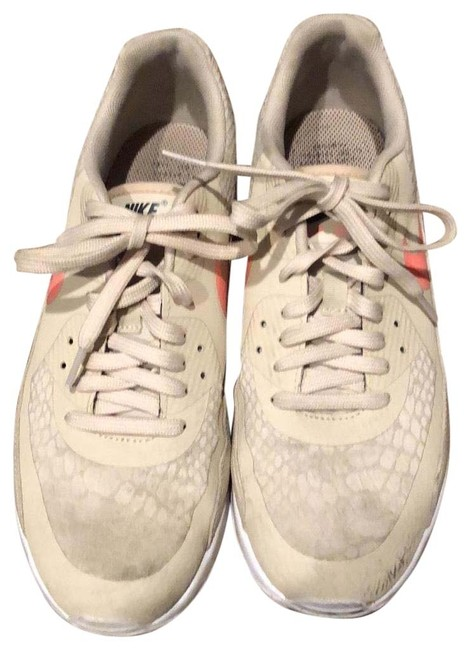 Item - Taupe Beige Tan Pink Neon Coral Air Sneakers Size US 9.5 Regular (M, B)