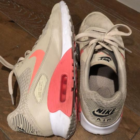 Nike taupe beige tan pink neon coral Athletic