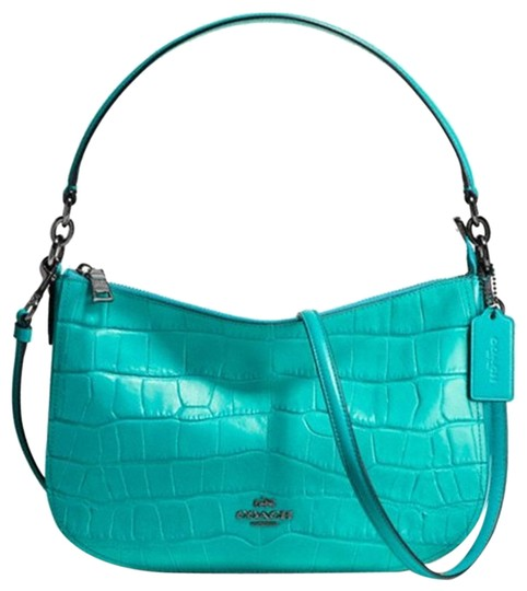 Preload https://item5.tradesy.com/images/coach-chelsea-in-croc-embossed-37733-turquoise-leather-cross-body-bag-22499644-0-1.jpg?width=440&height=440