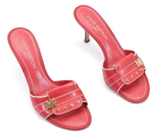 Louis Vuitton Red Sandals