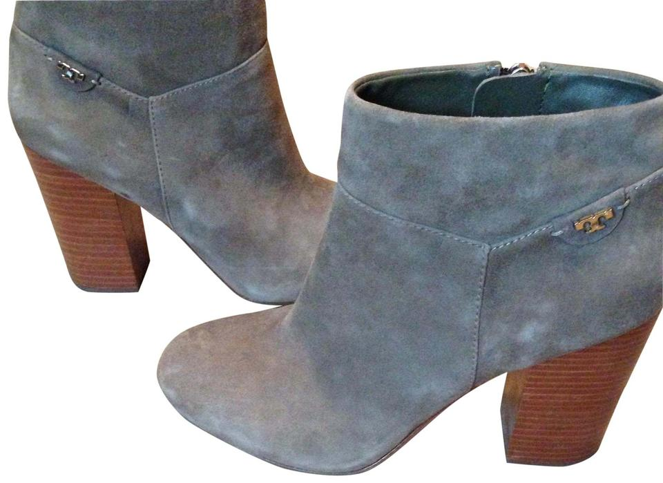 bcecd2e96e8 Tory Burch Putty Gray Suede Boots Booties Size US 9 Regular (M