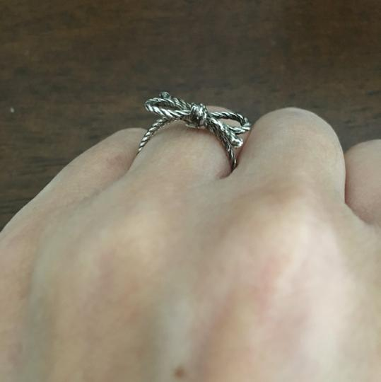 Vintage Sterling silver love knot ring