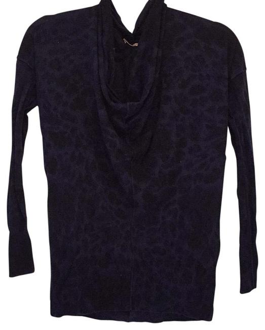 Preload https://img-static.tradesy.com/item/22499686/rebecca-taylor-wool-blend-cowl-neck-leopard-navy-sweater-0-1-650-650.jpg