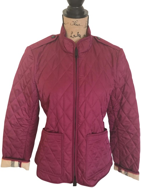 Preload https://item4.tradesy.com/images/burberry-deep-fuchsia-quilted-spring-jacket-size-8-m-22499688-0-1.jpg?width=400&height=650