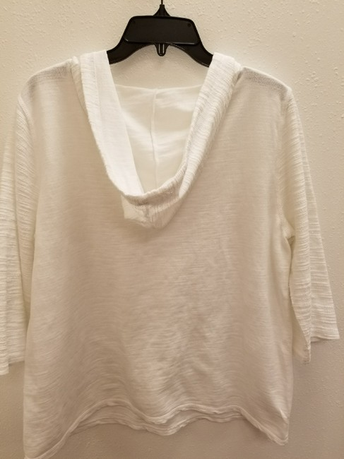 Hot Cotton Casual Textured Hooded 3/4 Sleeve Sweater