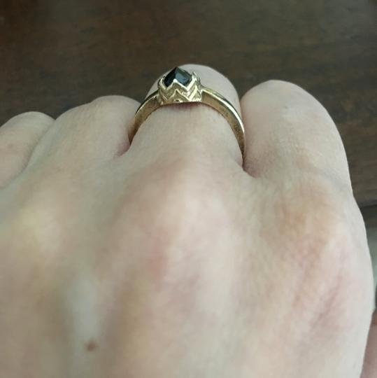 Vintage gold vermeil onyx crown ring