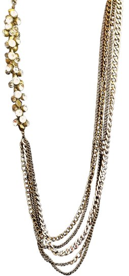Preload https://item1.tradesy.com/images/saks-fifth-avenue-pewter-metal-link-rhinestone-studded-necklace-2249975-0-0.jpg?width=440&height=440