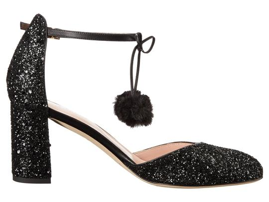 Kate Spade Mary Jane Sparkle Black Glitter Pumps